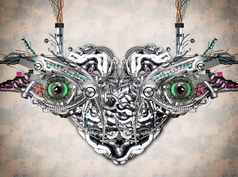 Olhos mecânicos ilustração do vetor