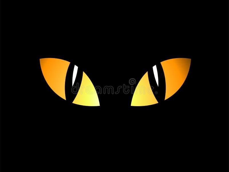 Olhos na noite ilustração royalty free