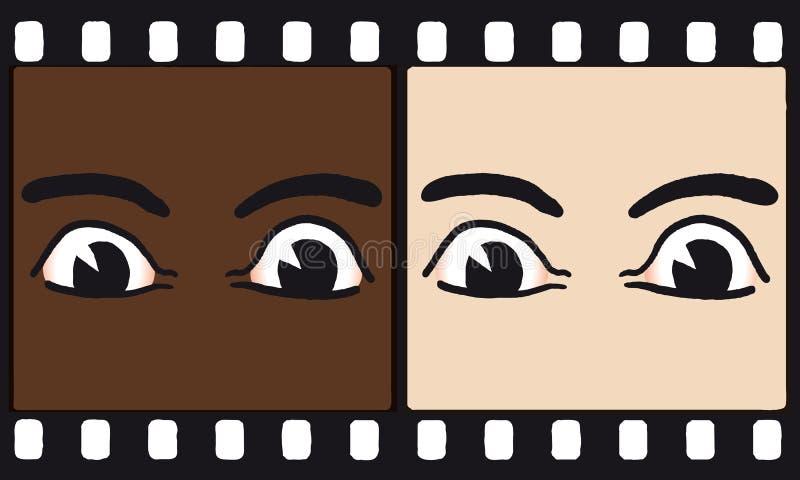 Olhos na película (vetor) ilustração do vetor