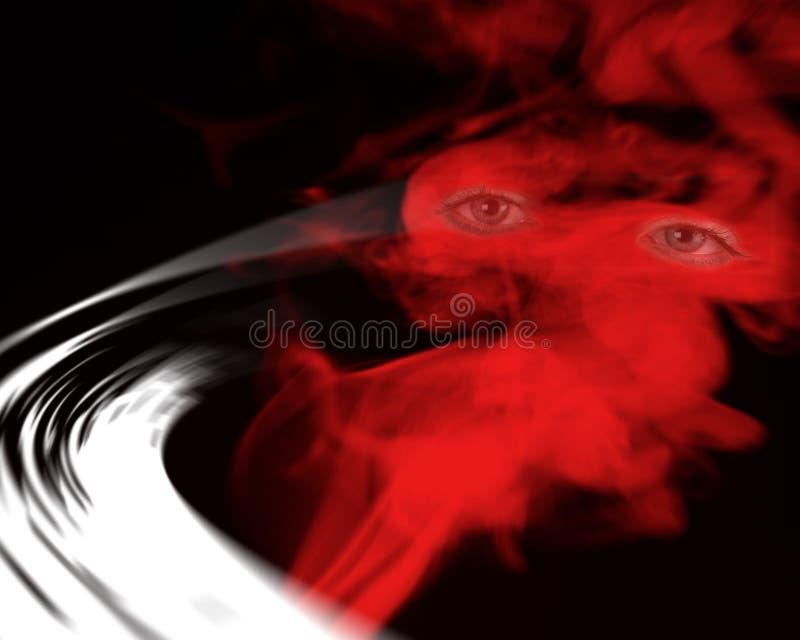 Olhos no fumo ilustração stock