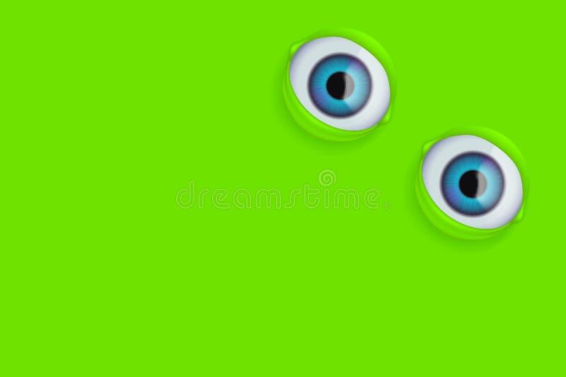 Olhos no verde ilustração royalty free