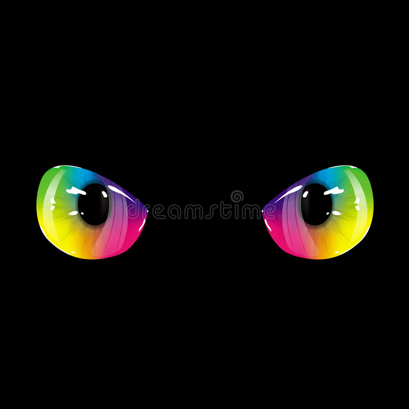 Olhos pretos do arco-íris ilustração stock