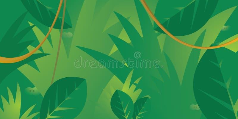 Olhos que escondem na selva ilustração do vetor