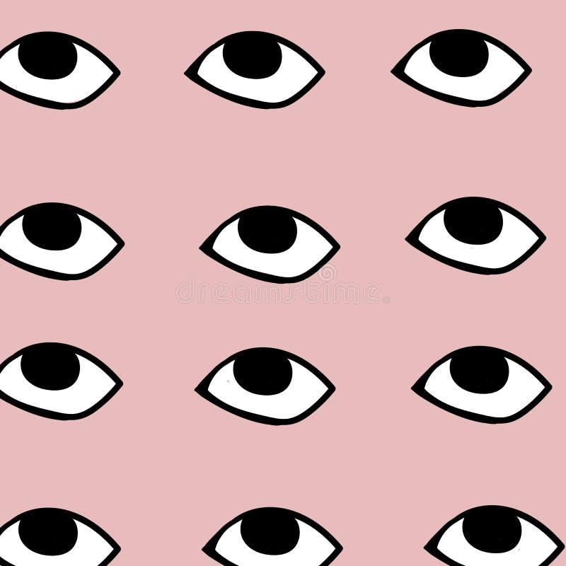 Olhos que olham em sua alma ilustração do vetor