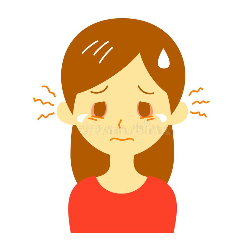 Olhos sarnentos, mulher ilustração do vetor