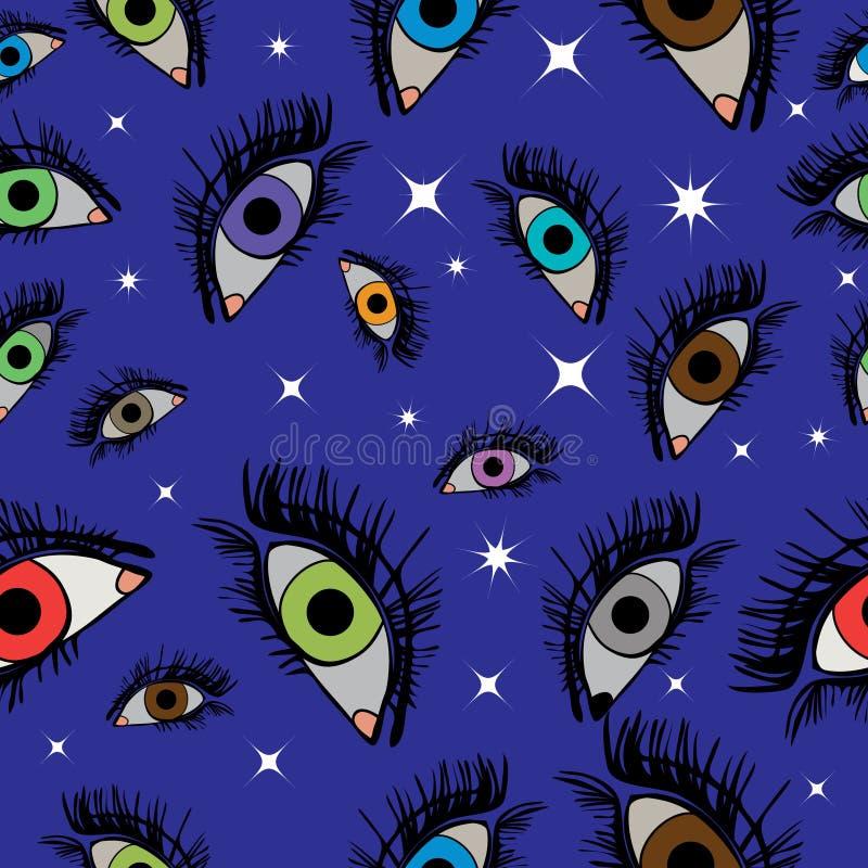 Olhos sem emenda do teste padrão mil do vetor de Argus ilustração do vetor