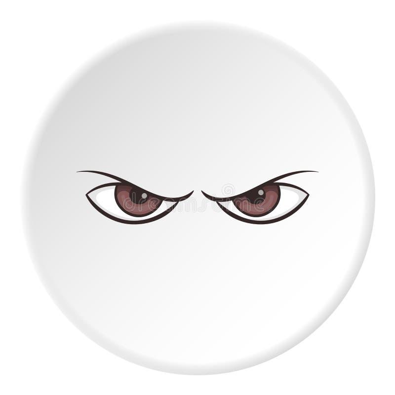 Olhos Sombrios Icone Estilo Dos Desenhos Animados Ilustracao Do
