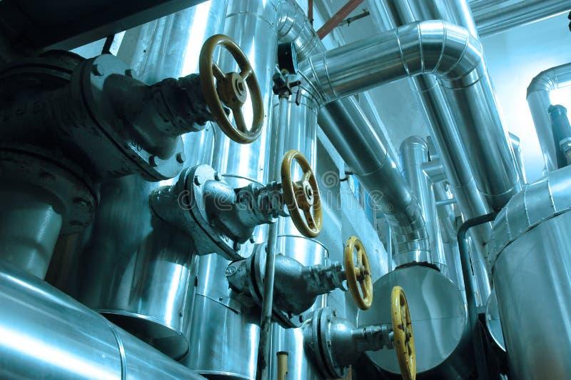 Olie en aardgasleidingen stock foto's