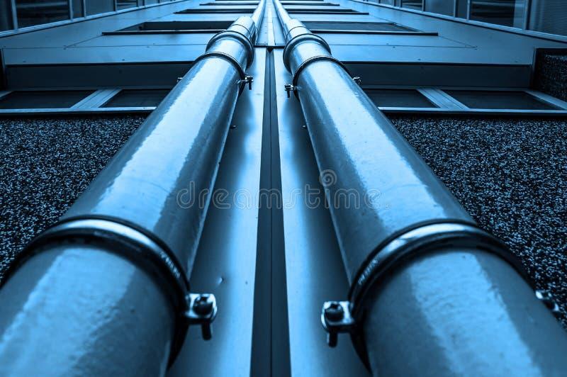 Olie en aardgasleidingen stock foto