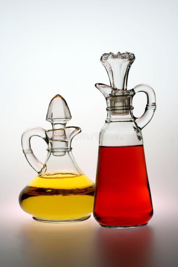 Olie en Azijn stock fotografie