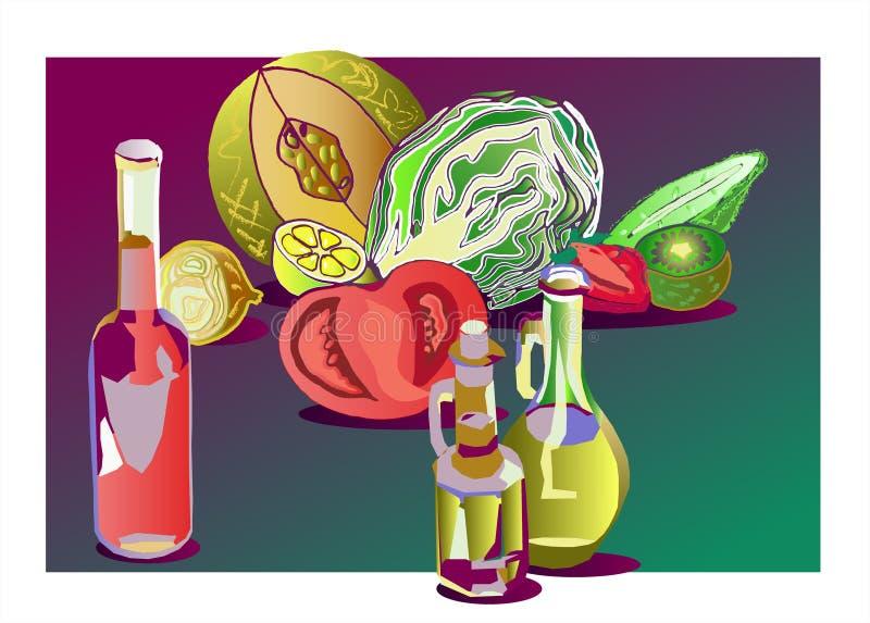 Olie en Azijn vector illustratie