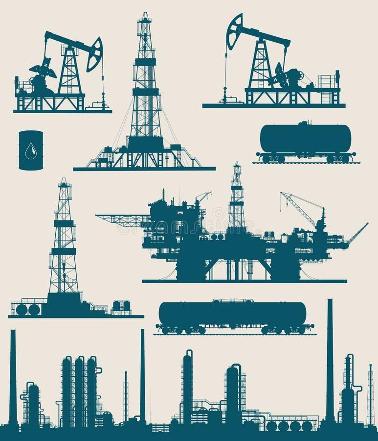 Olie en gas de industriereeks royalty-vrije illustratie