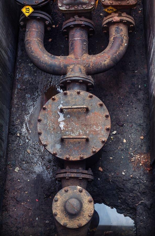 Olie en gas de kleppen van de pijplijn stock afbeelding