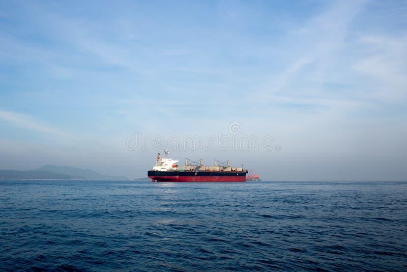 Olie en gastankerschip royalty-vrije stock foto