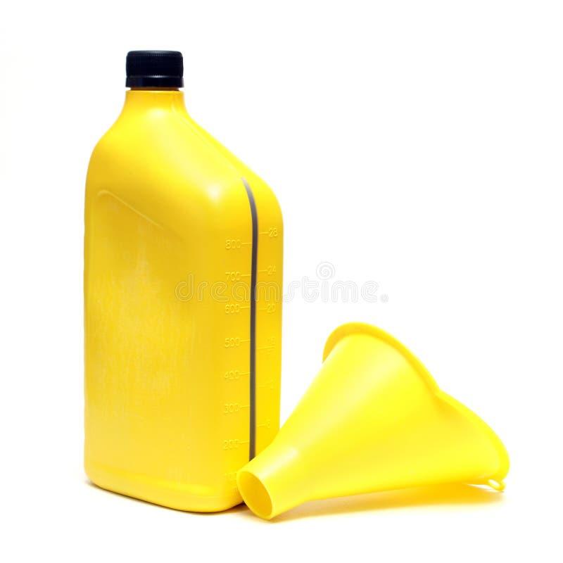 Olie en Trechter stock foto