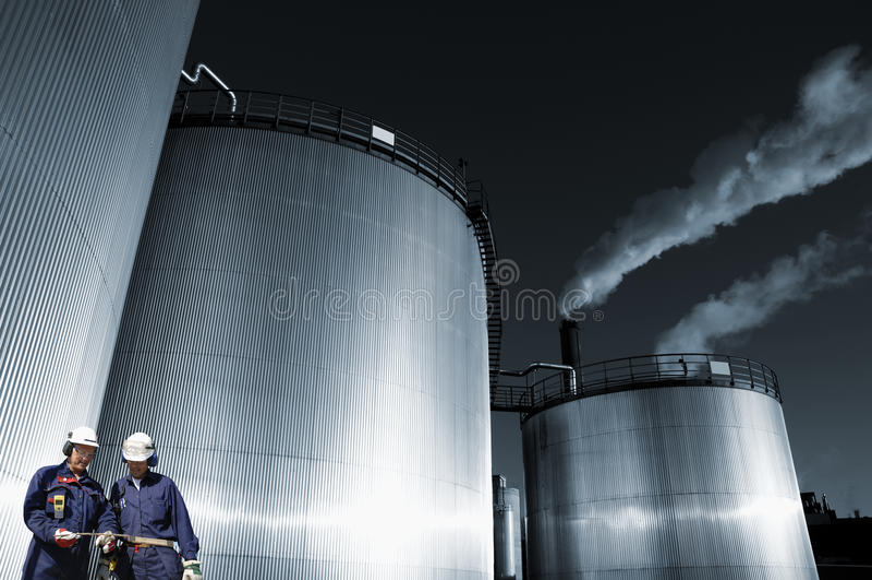 Olie, gas, brandstof en de techniekindustrie stock afbeeldingen