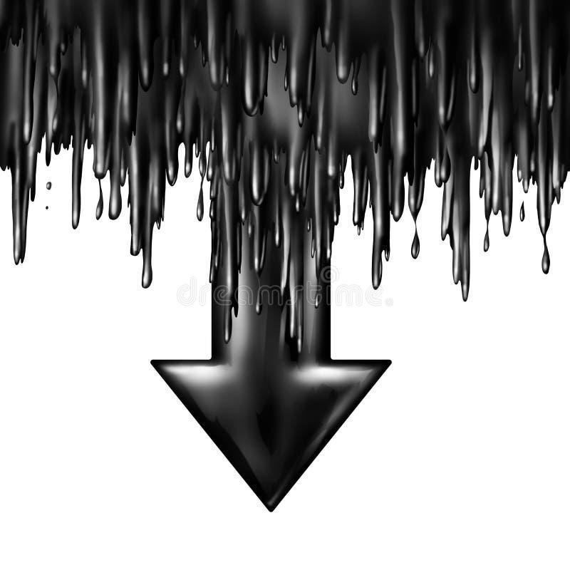 Olie het Dalen stock illustratie