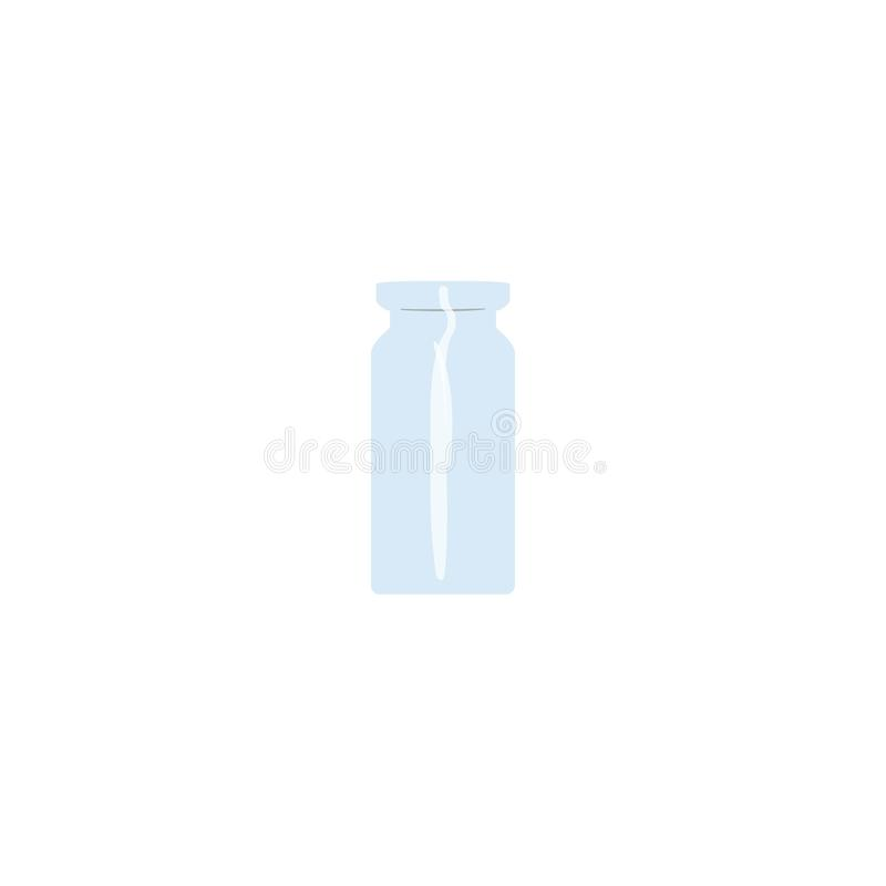 Olie lege fiool, tranparent ijzig-wit flesje, geurfles, geneeskundefles, kruik Voor drugs, pillen, oli?n, geneeskunde stock illustratie