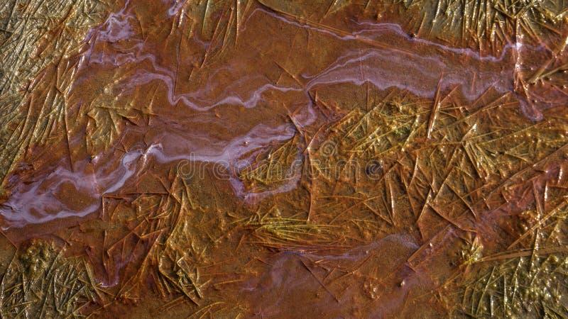 Olie in moerasland stock fotografie