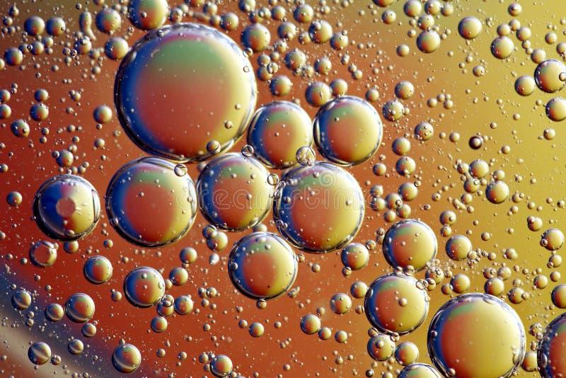 Olie op Waterpatroon royalty-vrije stock afbeelding