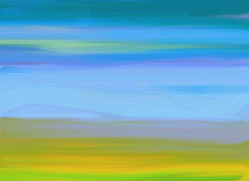 Olie-schilderende achtergrond vector illustratie