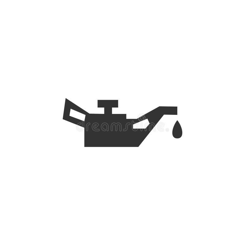 Oliebusjepictogram in eenvoudig ontwerp Vector illustratie royalty-vrije illustratie