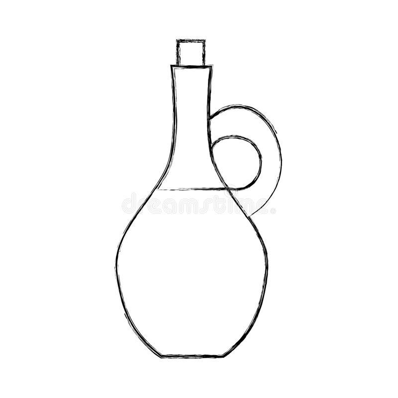 Oliejasr spa fles vector illustratie