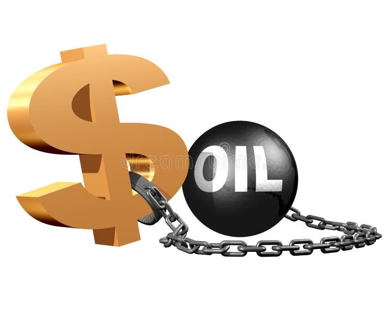 Oliemarkten vector illustratie