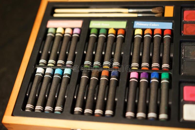 Oliepastelkleuren - regenboog van creativiteit royalty-vrije stock foto