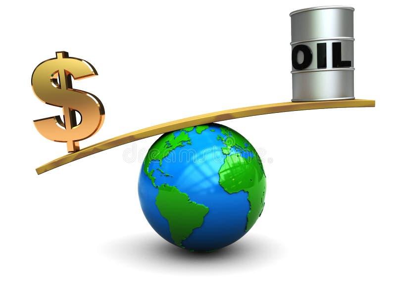 Olieprijs royalty-vrije illustratie