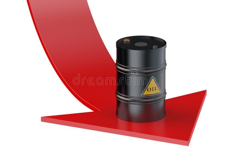 Olieprijsconcept royalty-vrije illustratie