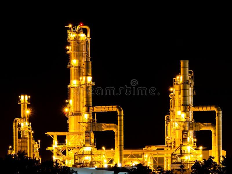 Olieraffinaderij royalty-vrije stock foto