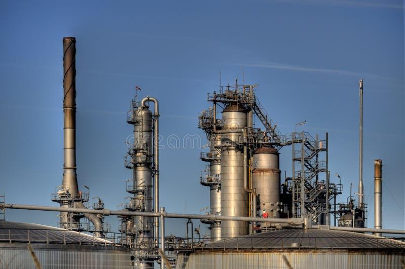 Olieraffinaderij in Duitsland stock fotografie