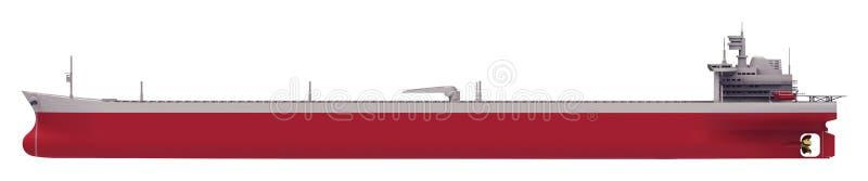 Olietanker lege kant stock illustratie