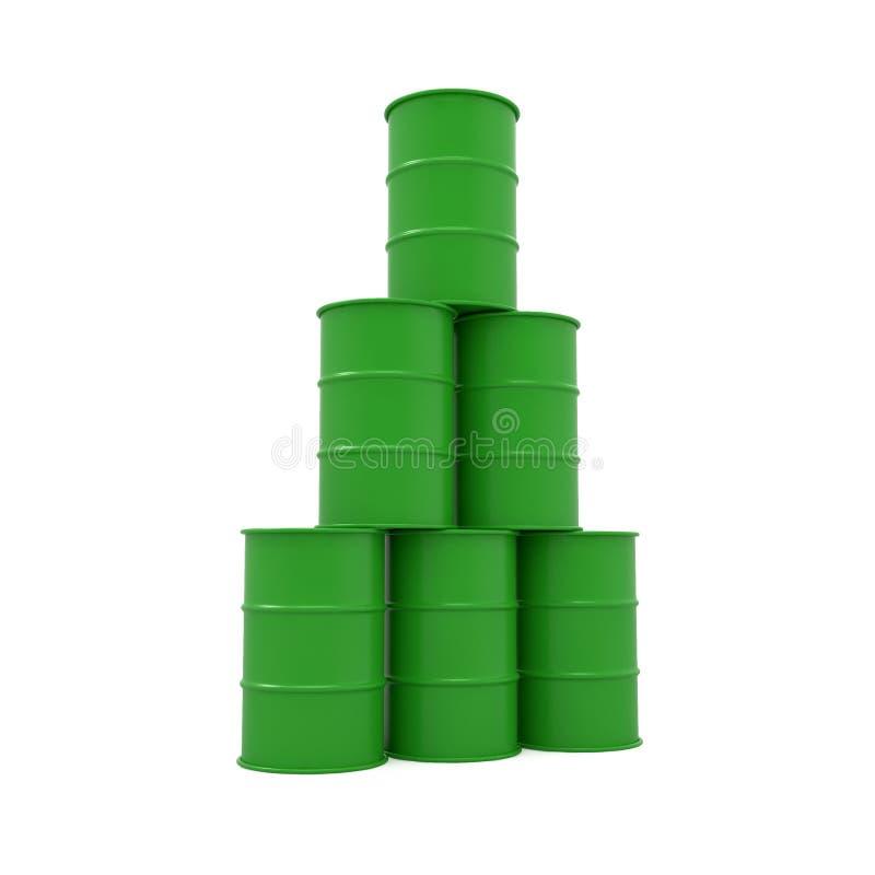 Olievat stock illustratie