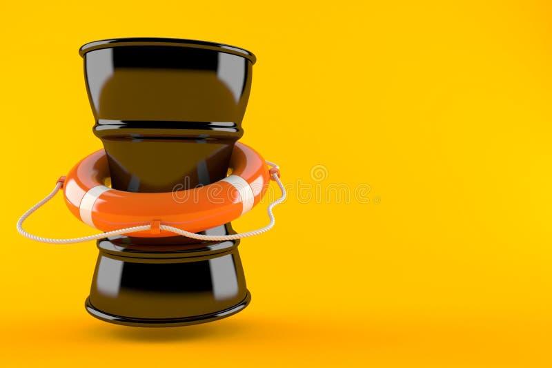 Olievat met reddingsboei vector illustratie