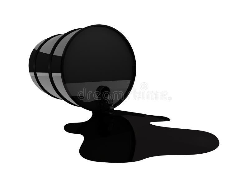 Olievat in morserij stock illustratie