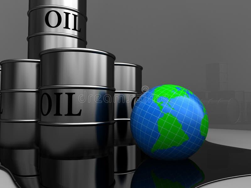 Olievaten royalty-vrije illustratie