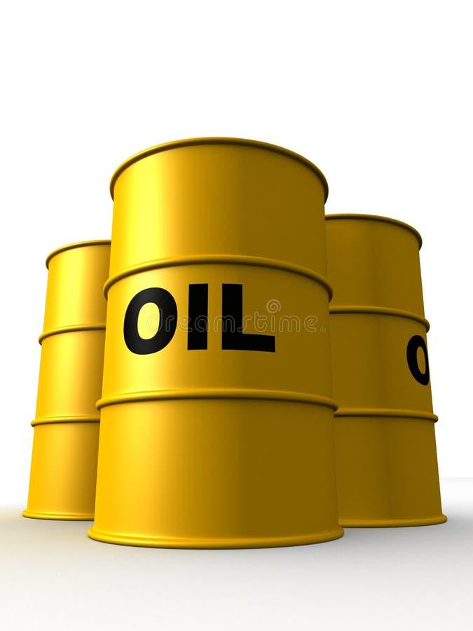 Olievaten stock illustratie