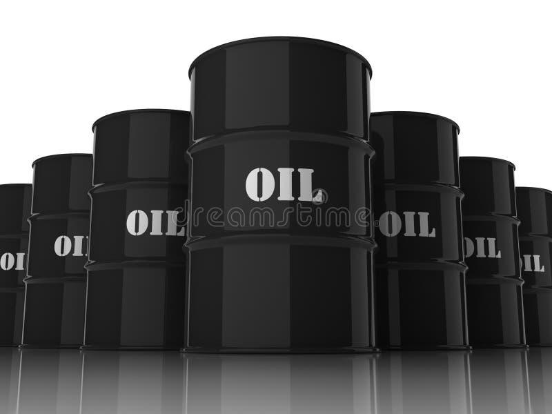 Olievaten die in vorm van ruit worden gestapeld royalty-vrije illustratie