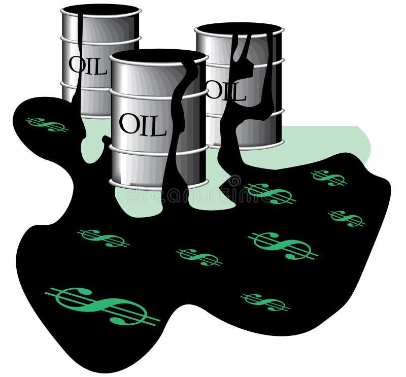 Olievaten in morserij stock illustratie