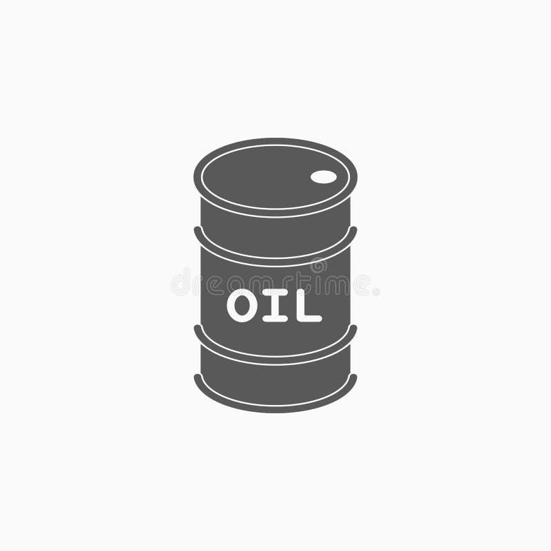 Olievatpictogram, tank, pakket, vervoer royalty-vrije illustratie
