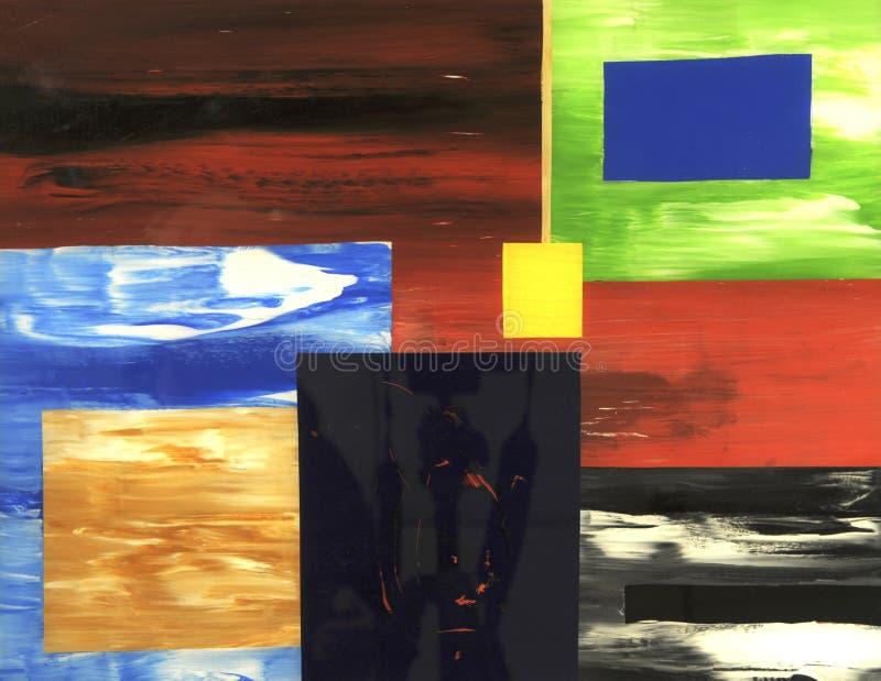 Olieverfschilderij stock illustratie
