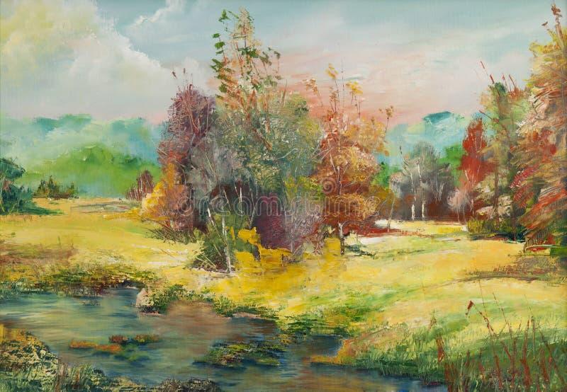 Olieverfschilderijen royalty-vrije illustratie