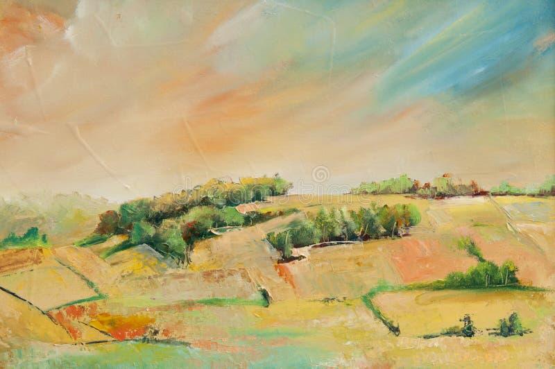 Olieverfschilderijen vector illustratie
