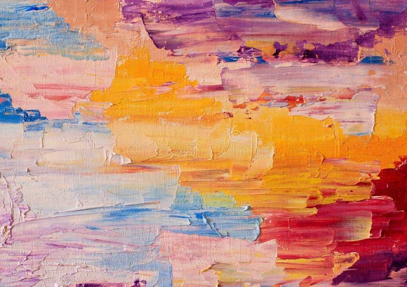 Olieverfschilderijkleuren stock foto's
