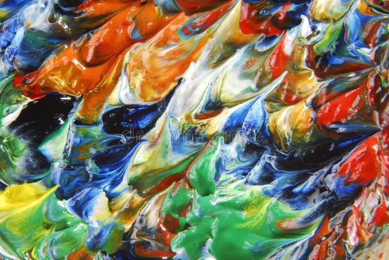 Olieverfschilderijsamenvatting stock afbeeldingen