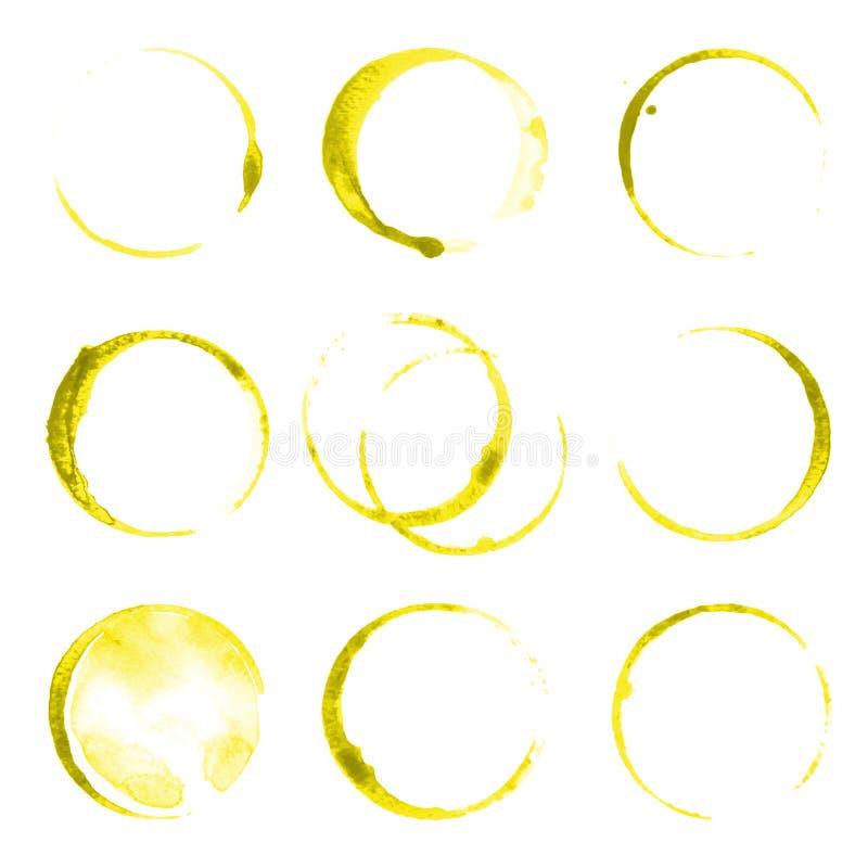 Olievlekken royalty-vrije illustratie