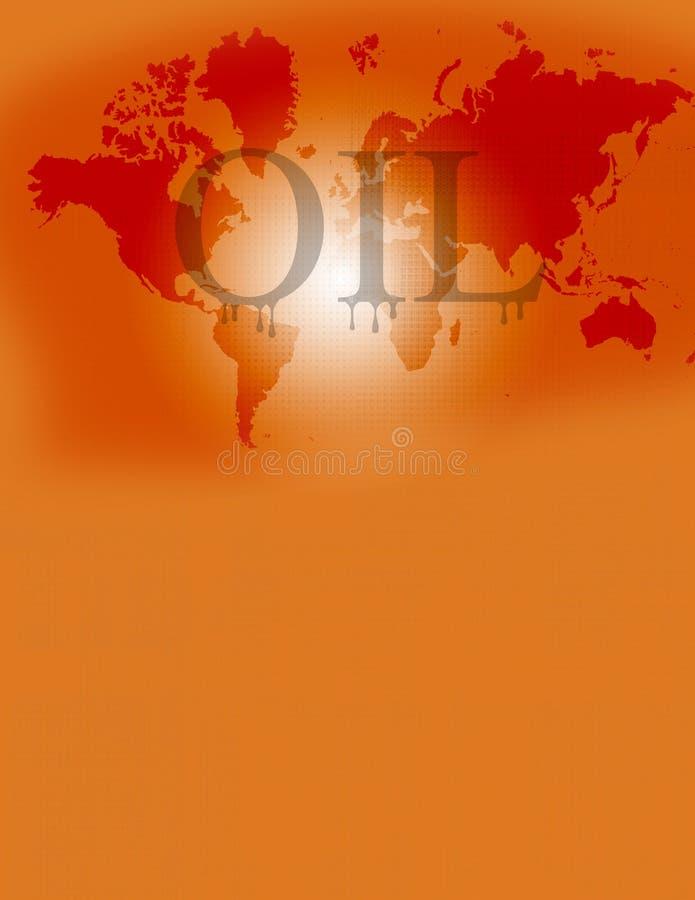 Oliewereld stock illustratie
