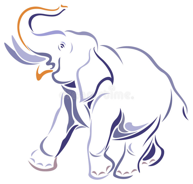 Olifant stock illustratie